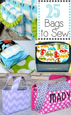 25 Bag Sewing Patterns {They're All Free!}  Some of these might work well for our sewing series.