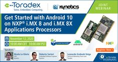 Want to get started with #Android10 on #NXP i.MX 8 & i.MX 8X applications processors? Here's a golden chance! Join us today for our #webinar with partner #Kynetics and learn more about #Android 10 support, creating proof of concept in no time and more. #iMX8 #iMX8X #NXPpartner #Tezi #ToradexEasyInstaller #NicolaLaGloria #RobertoSartori #LeonardoGraboskiVeiga #embeddedsystems #embeddedsoftware #androiddevelopment Proof Of Concept, Get Started, Android, How To Get, Learning, Videos, Education, Teaching