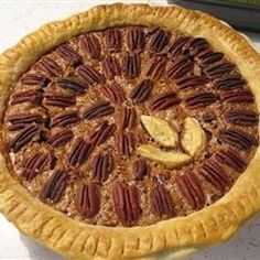Chocolate Pecan Pie III Recipe (edit: delish and a fan favorite at Chrismas or T-giving) Pie Recipes, Dessert Recipes, Bakery Recipes, Sweet Recipes, Yummy Recipes, Chocolate Bourbon Pecan Pie, Dessert Chocolate, Chocolate Mix, Just Desserts