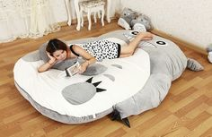 120.32$  Watch here - http://ali9nw.worldwells.pw/go.php?t=32260154784 - 1pcs Anime My Neighbor Totoro style giant sofa bed tatami packed in vacuum bag via EMS.4kinds size for choose. 120.32$
