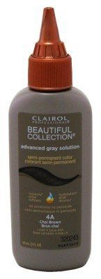 Clairol Beautiful Collection Advanced Gray Solution Hair Color - -4a Chai Brown 3 oz. (Pack of 2) * Want to know more, click on the image.