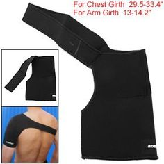 Amazon.com: Como Black Neoprene Sport Single Shoulder Support Wrap Brace: Health & Personal Care