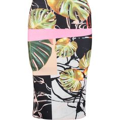 """Clover Canyon"" Pink & Multi Leaf Neoprene Pencil Skirt - TK Maxx Clover Canyon, Tk Maxx, Women Wear, Pencil, Leaves, Skirts, Pink, Skirt"