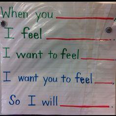 Conflict resolution plan for preschoolers