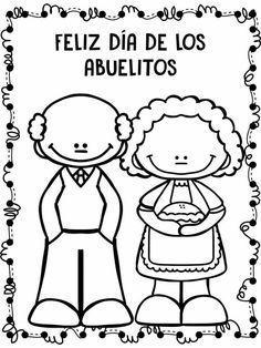 Resultado De Imagen Para Manualidad Sobre Los Abuelitos Feliz Dia Del Abuelo Abuelos Para Colorear Dia Del Abuelo