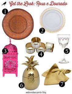 mesa posta rosa e dourado, festa, casamento, wedding, gold and pink, tablescape decor