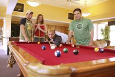 A clubhouse at Vulcan Village includes a pool table and foosball table. #caluofpa