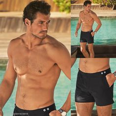 David Gandy for marksandspencer GandyForAutograph Swimwear Collection 2015 by MarianoVivanco Famous Male Models, Androgynous Models, David James Gandy, David Gandy Body, Shirtless Men, Good Looking Men, Male Body, Gorgeous Men, Hot Guys