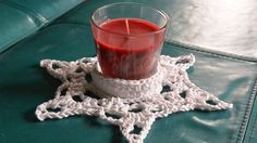 This Snowflake Candle Holder Centerpiece Pattern is my very first design.