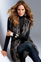 Boston Proper   Faux-fur vest  $149.00