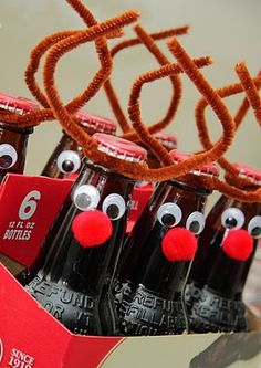 Root Beer Reindeer Handmade Christmas Gift - Yellow Bliss Road - simple to make, so fun!