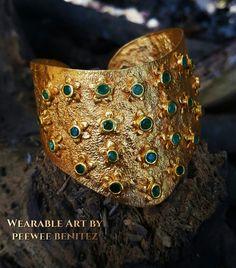 Emerald cuff by Peewee Benitez