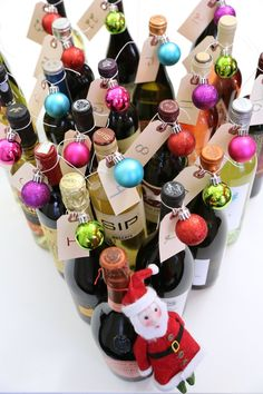 Pin for Later: 15 Edible Advent Calendars For the Tastiest Countdown to Christmas DIY Wine Advent Calendar Why it's delicious: 24 days of the wines (or beers) of your choice. Make it: DIY Wine Advent Calendar