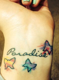 This song was too perfect to pick just a line or two! This is my Coldplay tattoo