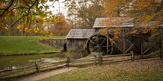 Mabry Mill is a watermill located at milepost 176.2 of Blue Ridge Parkway in Patrick County, Virginia. It is a tourist attraction mainly for the picturesque views of the mill itself. A short trail around the mill connects historical exhibits about life in rural Virginia. The trail allows visitors to view the gristmill, sawmill, and blacksmith shop.
