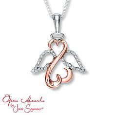 Because my baby girl loves it.  Open Heart Necklace 1/20 cttw Diamonds Sterling Silver/10K Gold