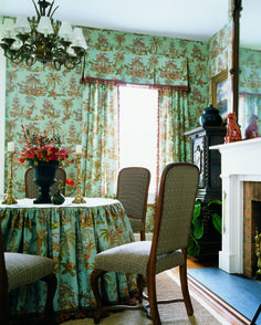 Tea House #wallpaper and #fabric in #teal from the Tea House collection. #Thibaut