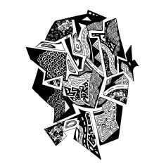 Francois Pretorius - Rock Pool (2014) #art #illustration #b&w #design #africa #fineart