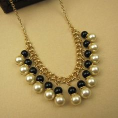 Stylish pearl jewelry sweater chain necklace to accessorize your fashionista outfits!!