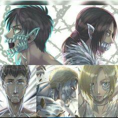 Titan Shifters, cool, Eren, Annie, Reiner, Bertolt, Ymir; Attack on Titan