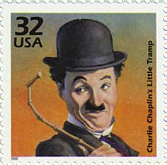 US Stamp - Celebrate the Century Born on April Charlie Chaplin first assumed his famous costume for the Little Tramp in The clothes, mustache, cane, and walk came to identify one of the most familiar icons in the history of film. Charlie Chaplin, Postage Stamp Design, Postage Stamps, Charles Spencer Chaplin, Art Postal, Vevey, Old Stamps, Silent Film, My Stamp