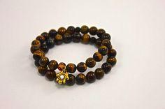 Hamsa Bracelet Stack Yoga Bracelets Gemstone by IntrinsicJourneys, $48.00