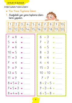 1. Sınıf Konu Anlatım MATEMATİK FASİKÜLLERİ Grade 1, First Grade, Math Worksheets, English Grammar, Cursive, Teaching Math, Special Education, Diy And Crafts, Kindergarten