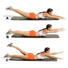 Lower Back workouts, believe me these work! I have had lower back problems ever since I had my daughter and for a faster recovery these exercises really do help when muscle spasms occur