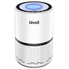 LEVOIT Air Purifier with True HEPA Filter Active Carbon Filtration Air Cleaner for Allergies Smoke Bacteria Dust Mold Pollen Pet Hair Odor Chemicals Night Light White Textiles Cooling-Air Quality Pet Dander, Pet Odors, Hepa Filter, Carbon Filter, Dust Filter, Light Filter, Home Smoker, Small Nightstand, Cabanas