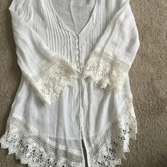 Dress Barn Top Wicked cute top w/lace edging! Dress Barn Tops Blouses