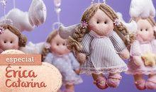 Feltro: especial Érica Catarina – Móbile de anjos e nuvens