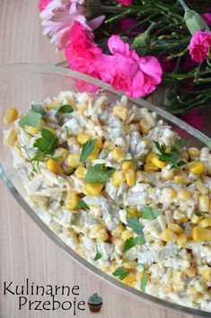 Chrupiąca sałatka z jajkami, kukurydzą i prażonym słonecznikiem