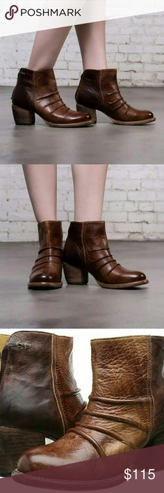 Bed Stu Arcane Leather Boots, Cinnamon Teak Rustic New in Box, Size 7.5M Bed Stu Shoes Ankle Boots & Booties