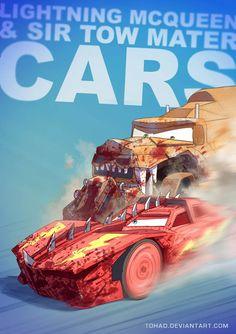 Lightning McQueen and Sir Tow Mater. Disney Cars, Lightning Mcqueen, Lightning Cars, Childhood Characters, Cartoon Characters, Images Disney, Tableau Pop Art, Realistic Cartoons, Famous Cartoons