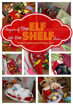 Dozens of Elf on The Shelf Ideas on Frugal Coupon Living #ElfontheShelf #Christmas