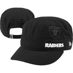 Oakland Raiders Women's Black New Era Goal-2-Go Military Adjustable Hat ....want this