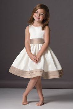 Cute flower girl dress with a pop of color.