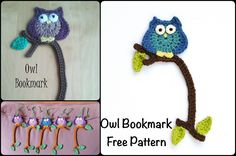Crochet Owl Bookmark with Free Pattern
