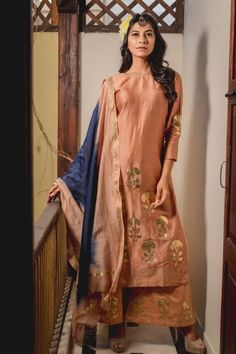 Peshwa Nude Pink Printed Kurta Set with Dupatta Anarkali Churidar, Anarkali Dress, Anarkali Suits, Salwar Kameez, Maroon Color, Pink Color, Patiyala Dress, Prachi Desai, Designer Salwar Suits