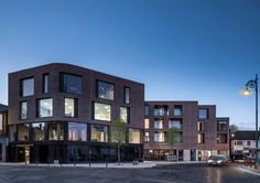 Percy Place is a minimalist residential complex located in Dublin, Ireland, designed by ODOSarchitects. Brick Architecture, Architecture Awards, Timber Walls, Urban Fabric, Residential Complex, Roof Light, Brick Building, Brick And Stone, Places