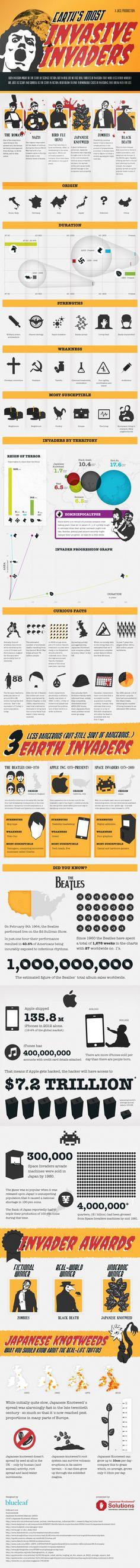 Invasive Invaders #socialmedia #infographic #infographics