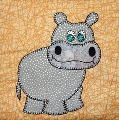 Looking for your next project? You're going to love Hippo Applique Block by…