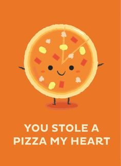 You Stole A Pizza My Heart, an art print by Krizia Lim - INPRNT