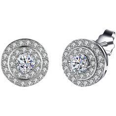 S925 Diamond Stud Earrings ($7.48) ❤ liked on Polyvore featuring jewelry, earrings, diamond jewellery, diamond jewelry, stud earrings, diamond earrings and diamond stud earrings