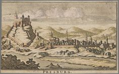 Theodorus Danckerts ca 1700 Presburg Bratislava, Old Pictures, Vintage World Maps, Times, Image, Cartography, Old Photos