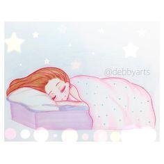Sweet dreams by me @debbyarts  ✏️ #sweetdreams #pencil #drawing #draw #sketch #artist #instamoment #illustration #pastels