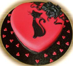 Valentine's cake (by fuddle) ♥ Pretty Cakes, Beautiful Cakes, Amazing Cakes, Cupcakes, Cupcake Cakes, Wilton Cake Decorating, Cake Decorating Supplies, Valentines Day Cakes, Valentine Treats