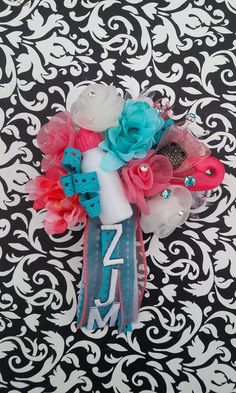 Coral and Aqua Owl Baby Shower Corsage by LeaLeaAndThings on Etsy, $8.00 Baby Corsage, Aqua, Coral, Baby Owls, Corsages, Girl Shower, 4th Of July Wreath, Baby Ideas, Bump