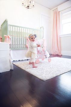 LOVE this darling nursery and equally darling girl! Cute and Simple!