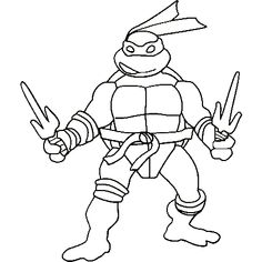 Teenage Mutant Ninja Turtles Coloring Page  Kids  Pinterest
